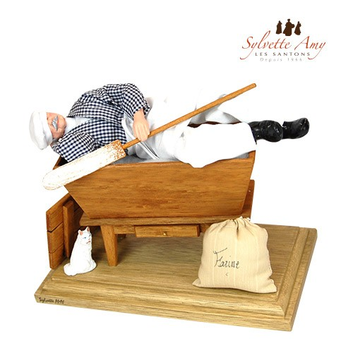 Le boulanger couché dans son pétrin