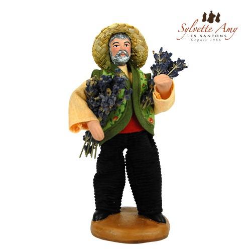 L'homme aux deux bouquets de lavande