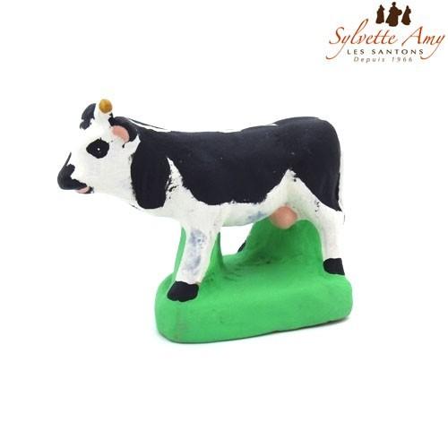 la vache noire et blanche santons de provence sylvette amy. Black Bedroom Furniture Sets. Home Design Ideas
