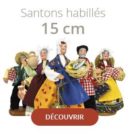 Gamme de santons de provence habillés de 15 cm