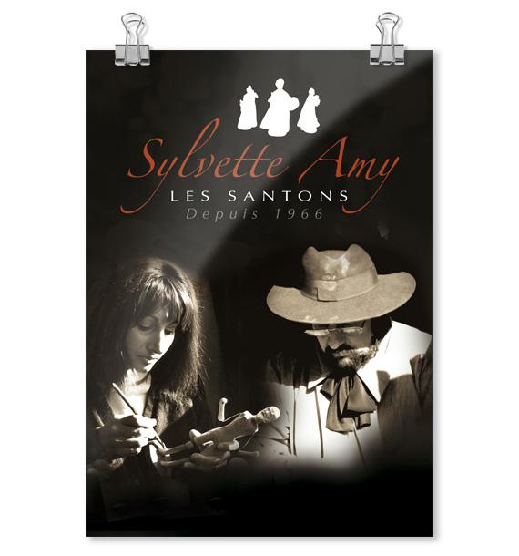 Santons Sylvette AMY - Affichette santonnier Aubagne